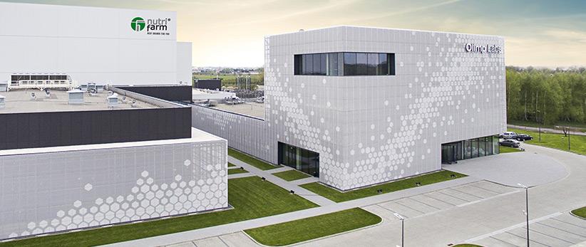 Kafle 3D HEXO z betonu architektonicznego - MILKE - TEKT Concrete - budynek Olimp Laboratories