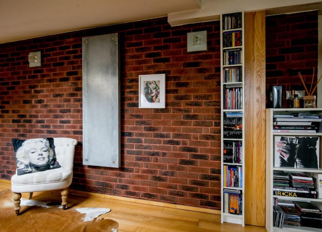 Grzejnik betonowy TEKT w mieszkaniu