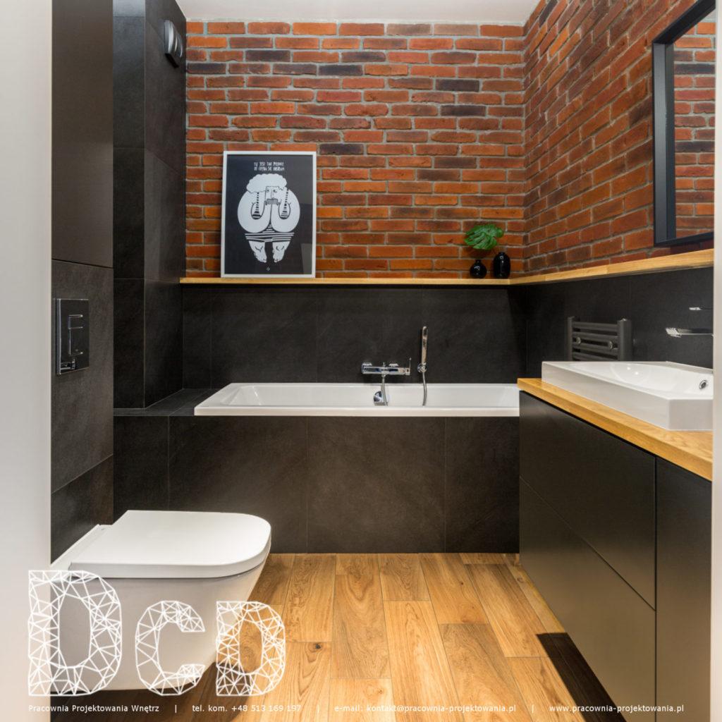 Płytki Stara Cegła MILKE kolor naturalny w łazience