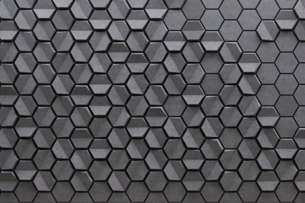 HEXO 2 - linia TEKT Concrete - MILKE - wizualizacja