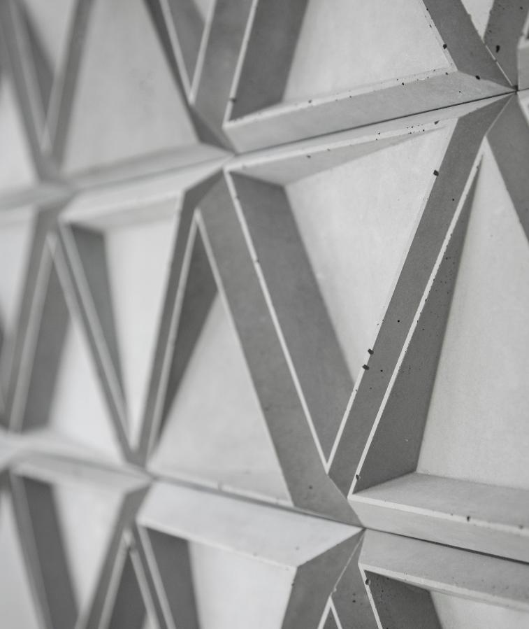 TRIX 2 - linia TEKT Concrete - MILKE - realizacja