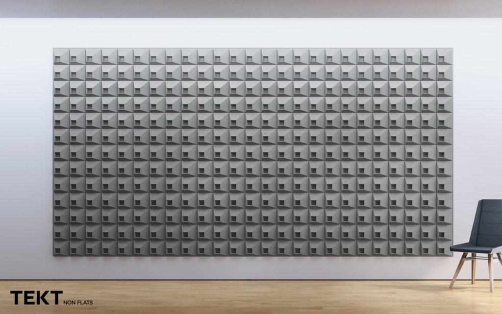 Kompozycja obraz z kafli 3D SQR 1 - TEKT Concrete - MILKE