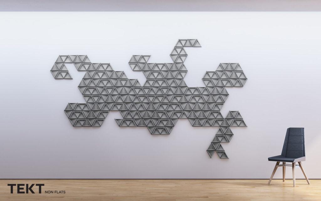 Kompozycja obraz z kafli 3D TRIX - TEKT Concrete - MILKE