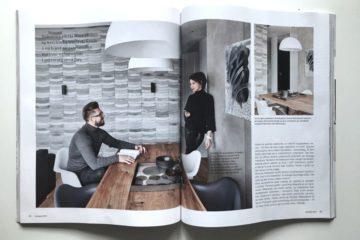 Kafle Wave TEKT Concrete na rozkładówce magazynu wnętrzarskiego