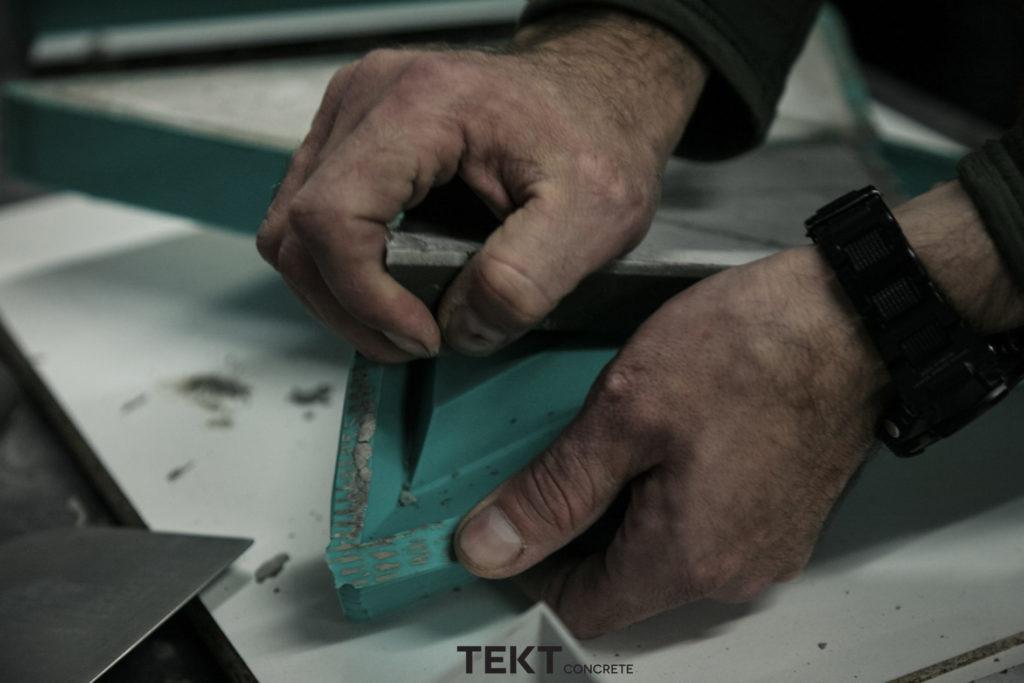 Proces produkcji kafli z betonu architektonicznego TEKT Concrete - MILKE