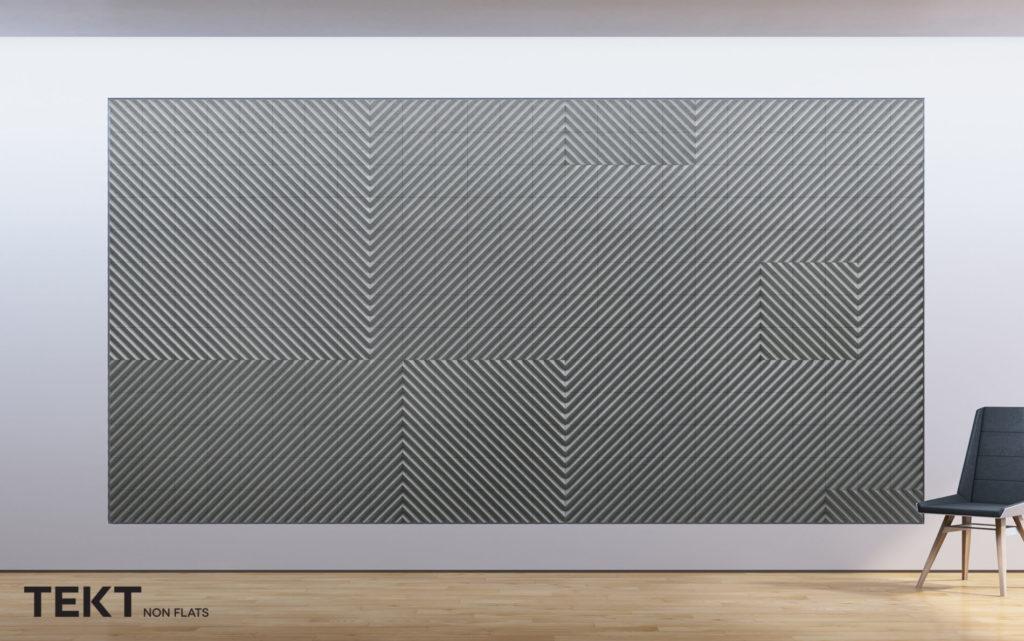 Kompozycja obraz z kafli 3D DIAGO - TEKT Concrete - MILKE