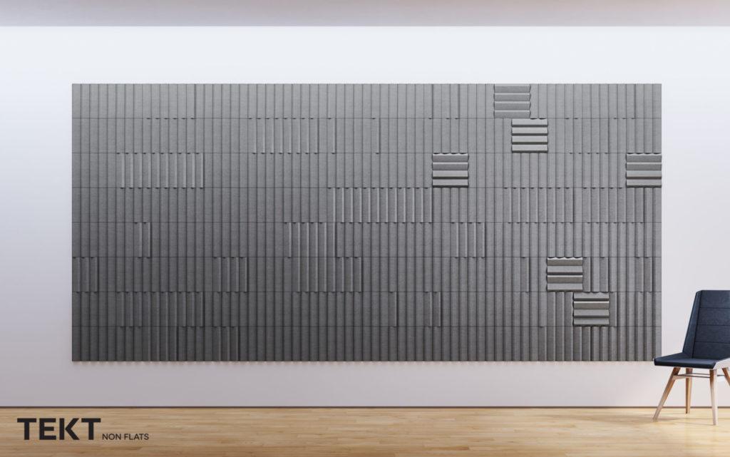 Kompozycja obraz z kafli 3D PLANK - TEKT Concrete - MILKE