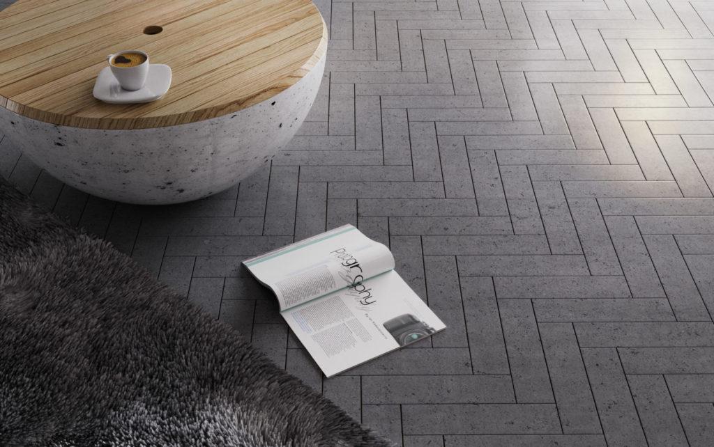 Kafle 3D PLANK - TEKT Concrete - lazienka